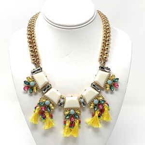 INC Multi color stone and tassels